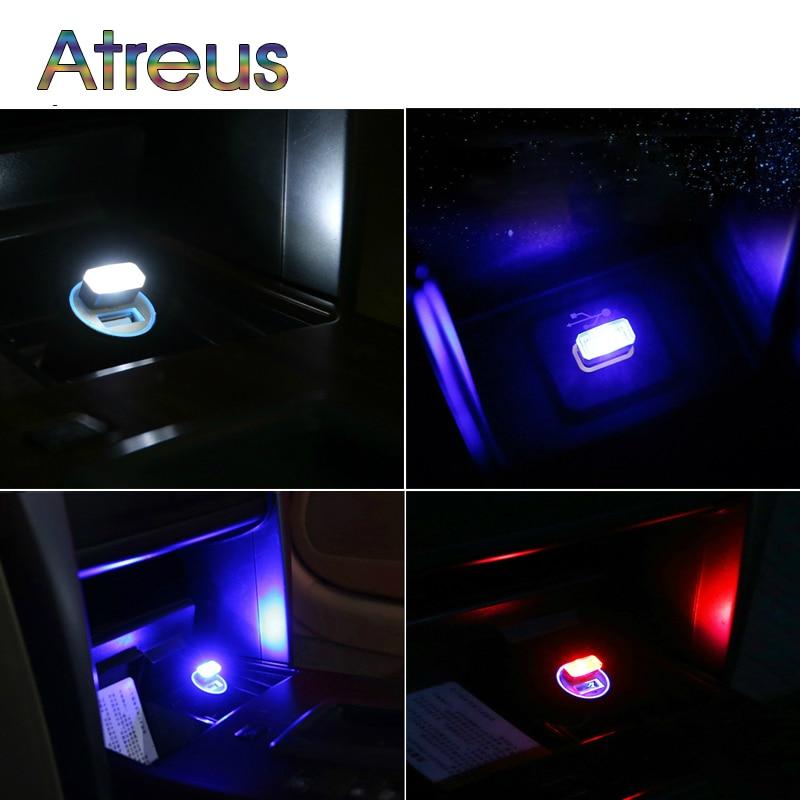 Atreus 1pc Auto Styling USB Atmosphäre LED Lampe Für Abarth Mini Cooper BMW E46 E39 E60 E90 E36 F30 f10 X5 E53 E34 E30 Zubehör