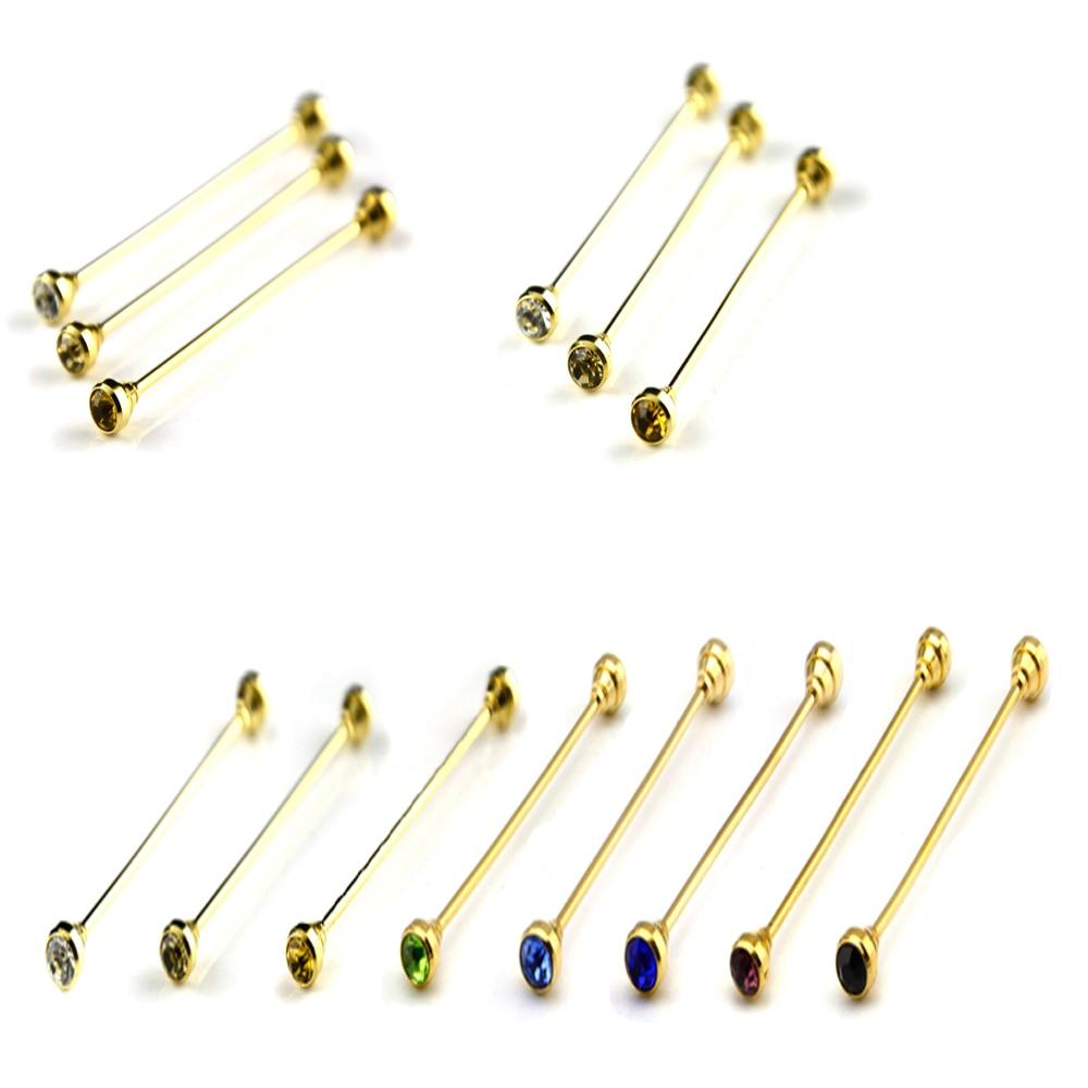 Joyería para hombre broche de Cuello de camisa clip dorado para corbata broche Bar Caballero accesorios ZFTIE0005