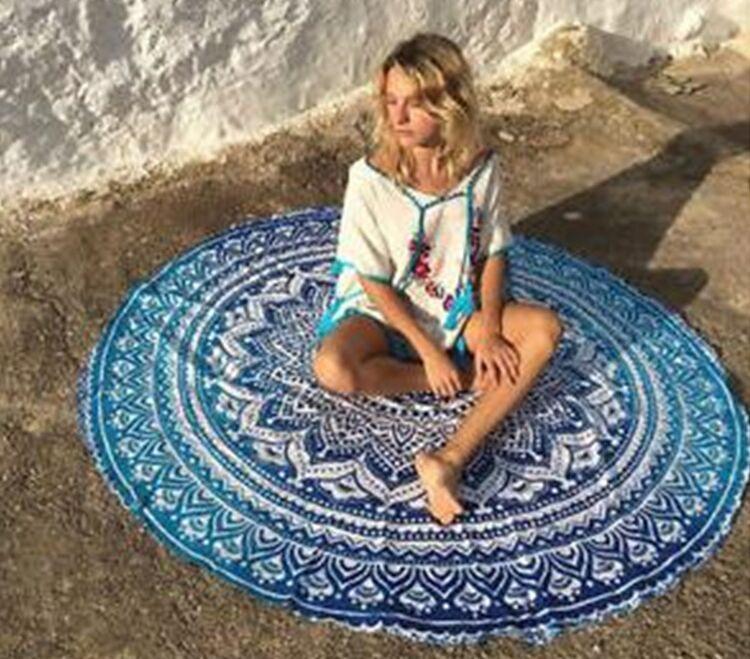 Letnia szyfonowa wall hanging tapestry koc ręcznik plażowy duży mediter flora miękkie narzuta yoga mat obrus home decor 7