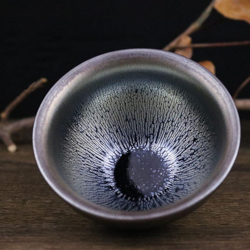 Jianzhan-أفضل فنجان شاي من الخزف الخزفي ، وعاء Tenmoku من الطين المصقول ، صناعة يدوية من Song craft