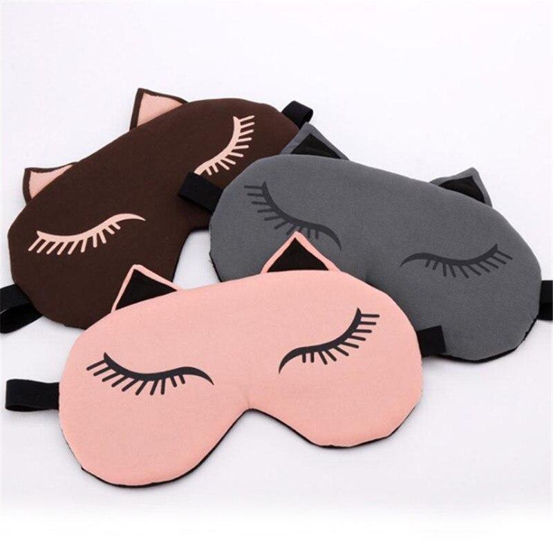 Gato bonito dormir máscara de olho viagem eyepatch venda quente e frio saco de compressa máscara de olho nap viajar aliviar a fadiga
