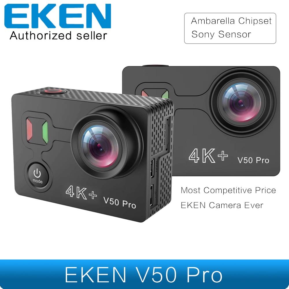 Mais novo eken v50 pro câmera de ação ambarella chipset sony sensor 4 k 30fps câmera da motocicleta wi fi à prova dwaterproof água mini câmera esportiva