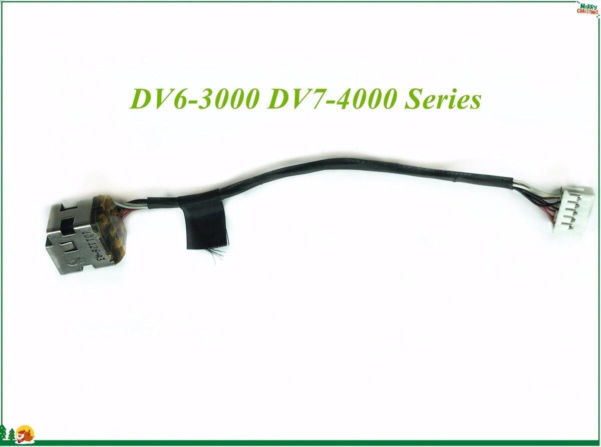 DC Power Jack Connector Flex Cable For HP Pavilion DV6-3000 DV7-4000 Series E255394 VW-1 HAMBURG-A H-2 125C 100% Working