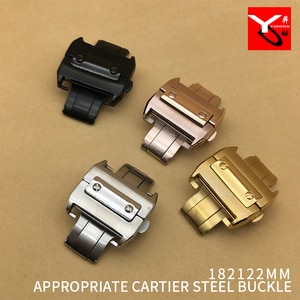 18mm 20mm Watch Buckle 316L Stainless Steel High Quality Folding Buckle For Cartier Wrist Watch