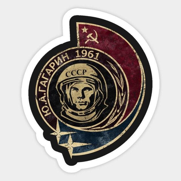 1 Uds CCCP Yuri Gagarin 1961 V02 pegatina para monopatín maleta nevera motocicleta pegatina estilo Coche