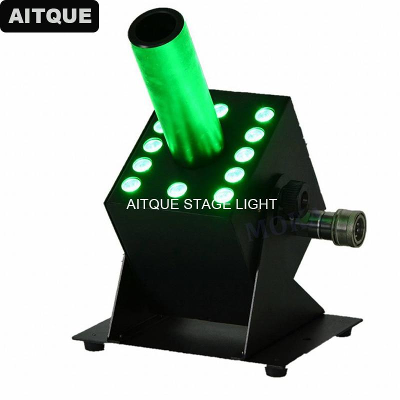 4 Uds Dj luz led con dmx 12x 3 vatios 3 vatios RGB 3 en 1 DMX CO2 Gas criogénico Jet Cannon Blast 12 Uds * 3 W tricolor