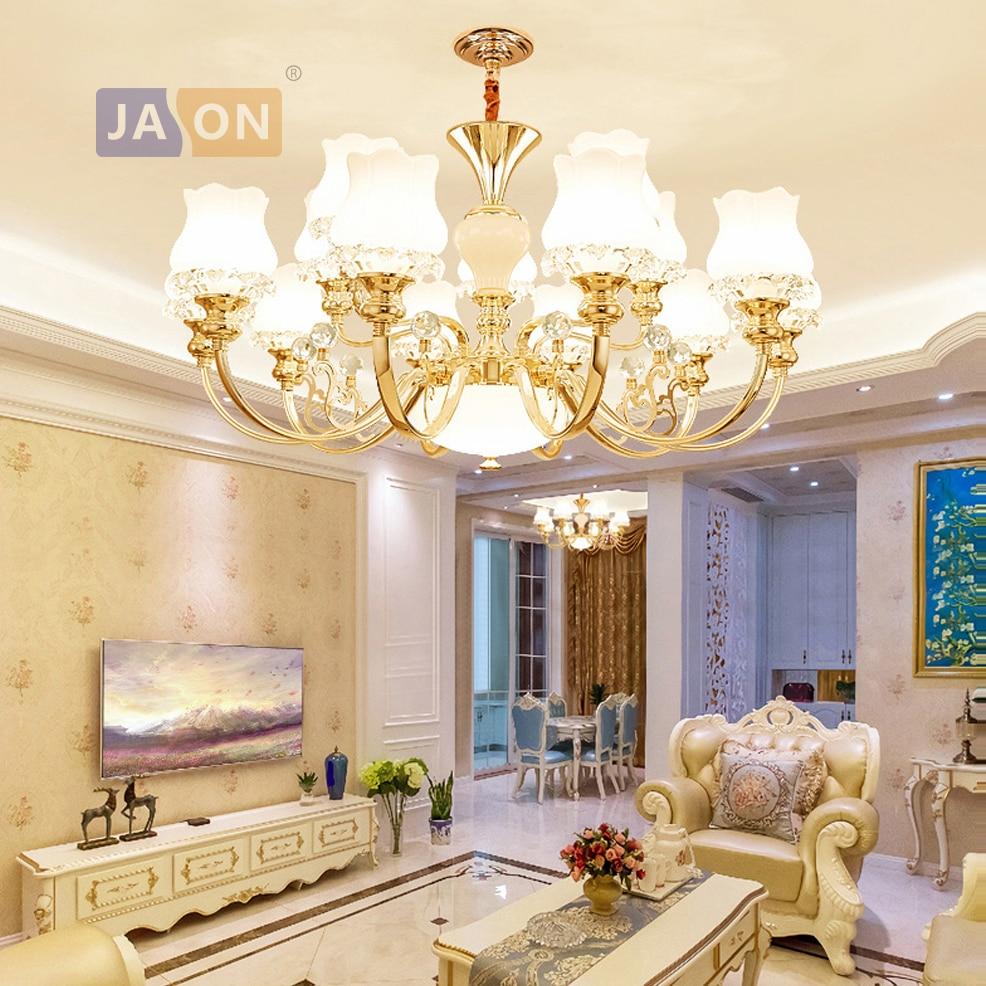 LED e14 postmoderne fer cristal verre or blanc LED lustre lustre lampe LED lampe à LED pour Foyer salle à manger