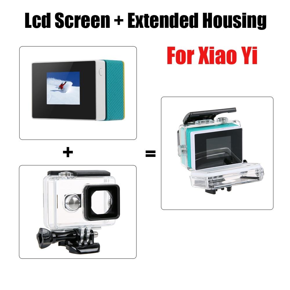 ل Xiaoyi-شاشة LCD للكاميرا الرياضية الأصلية ، وشاشة LCD مع مبيت خارجي مقاوم للماء