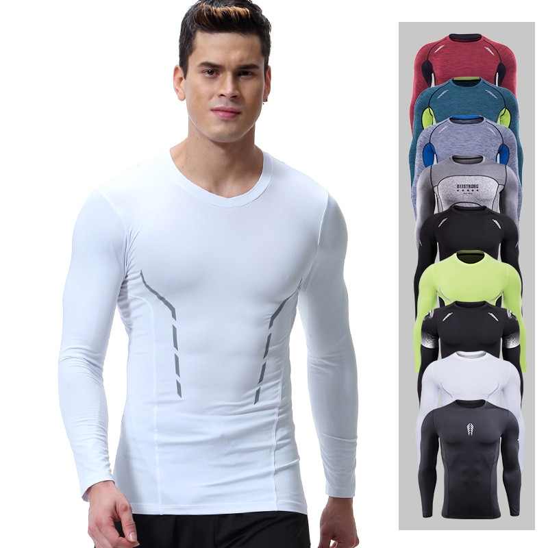 Nueva camiseta spyro para gimnasio, Camiseta deportiva de manga larga para hombre, crossfit camiseta, camiseta de compresión para hombre, Camiseta deportiva para hombre
