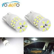 2 pièces T10 W5W ampoule LED 168 194 Led céramique 3014 puces voiture dégagement lumières cale dôme lecture plaque dimmatriculation lampe Auto blanc 12V