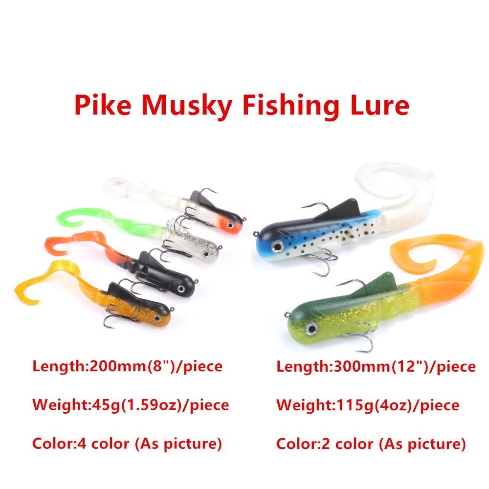 6 unids/lote Mizugiwa Pike Musky Dawg pesca con cebo blando señuelo Zabder agua dulce rizado Shad Tackle Bull gruesa pesca Bulldog