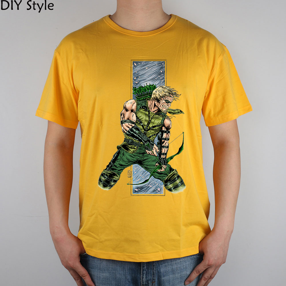 RDS flecha verde 29869 camiseta transpirable Lycra algodón moda hombres Camiseta estilo DIY