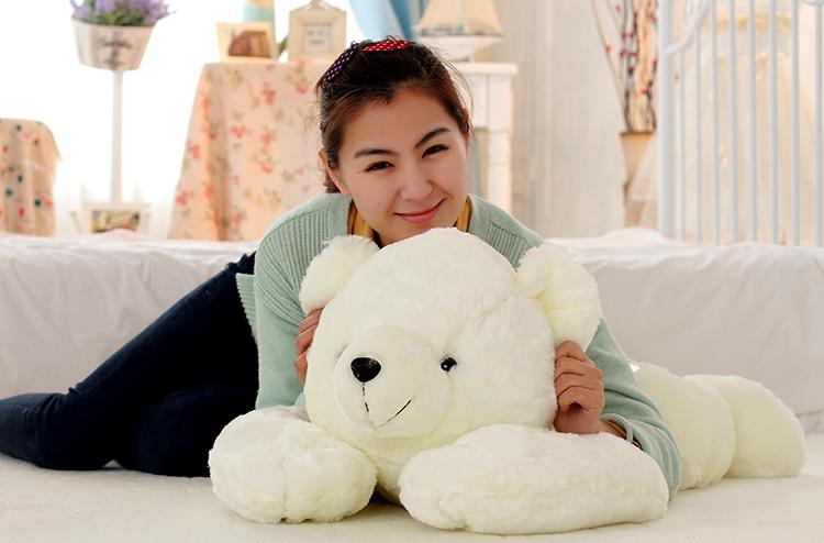 the polar bear toy huge white plush lying polar bear doll lovely bear doll gift about 90cm 0095