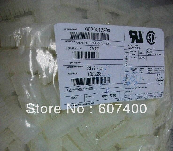 موصلات 0039012200 CONN recإلكترونيات 20POS DUAL 3901-2200 ، 39012200 علب ، أجزاء جديدة وأصلية 39-01-100% ، 2200