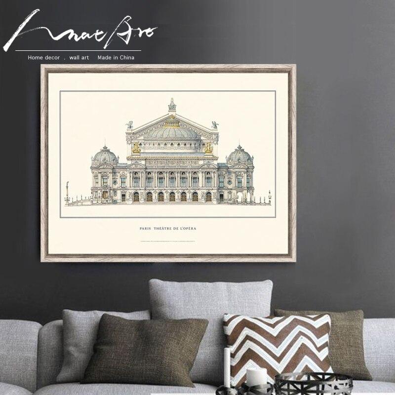 Italia Antigua Roma dibujos arquitectónicos pintura carteles e impresiones pared cuadros artísticos de pared lienzo arte decoración del hogar duvar tablol