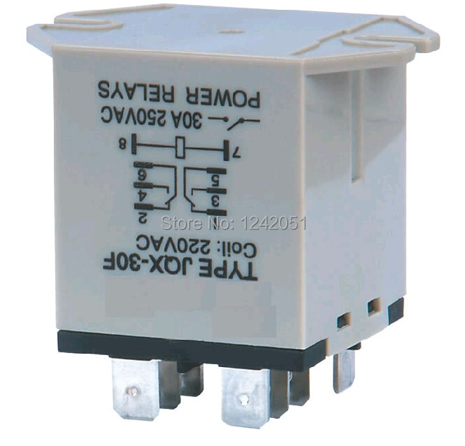 10 шт., реле мощности переменного тока, 8 Pin, 30A, 250 В, 2Z, 220 В перем. Тока, DPDT