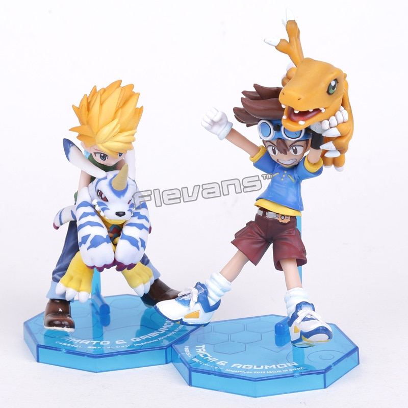 Digimon Adventure YAGAMI TAICHI & AGUMON/ISHIDA YAMATO & GABUMON PVC Action Figure Sammlung Spielzeug