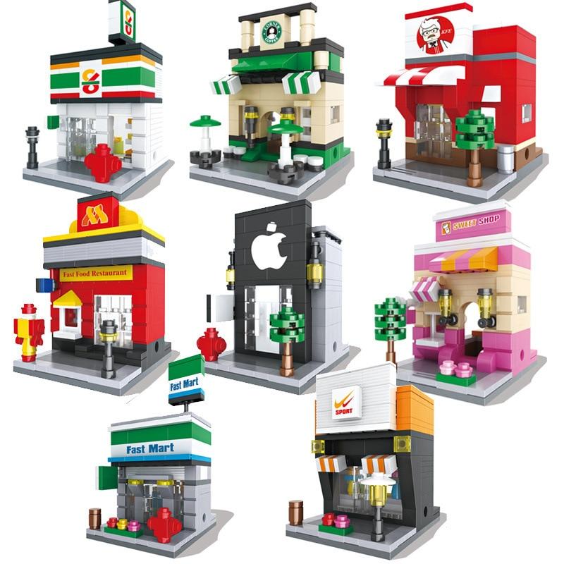 Blocs de construction de rue de Nice compatibles avec les briques de construction de modèle classique définit des jouets éducatifs pour les cadeaux denfants Brinquedos