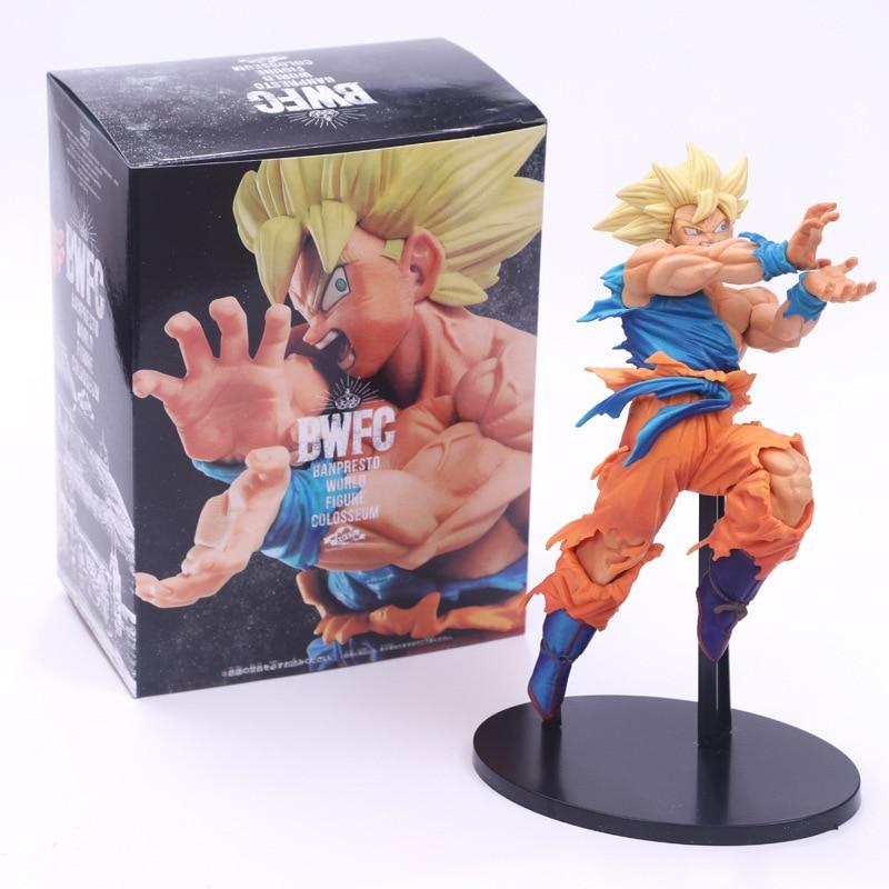 Драконий жемчуг Z Goku позитивно облицовочная фигура в стиле «враг» DBZ Goku Super Saiyan Shock Wave Коллекция Модель игрушки 18 см