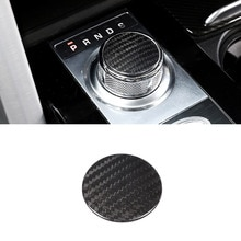 Real Carbon fiber For Land Rover Discovery 5 L462 LR5 LR4 For Range Rover Sport Evoque Vogue Gear Shift Head Cover Trim Parts