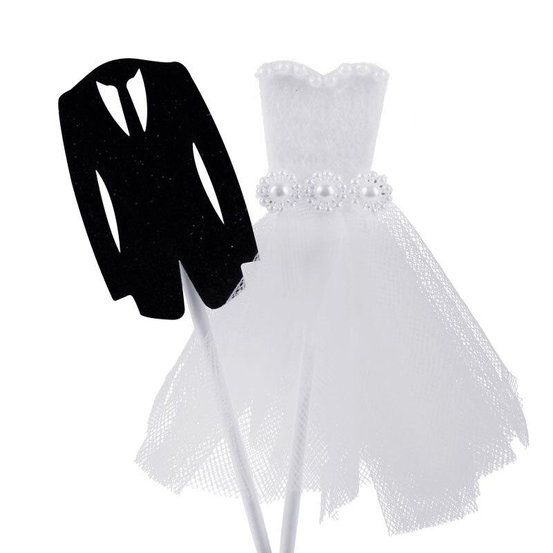 Cevent 1 par de adornos para vestidos de boda, trajes para novios y novios, adornos para Tartas, suministros para fiesta de boda, adultos