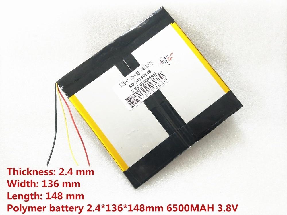 3 line The tablet battery 3.8V 6500mAH 24136148 Polymer lithium ion / Li-ion battery for tablet pc battery 25135148