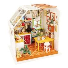 Robotime-maison de poupée Miniature en bois   Bricolage, maison de poupée moderne, cadeaux pour enfants, cuisine de Jason DG105