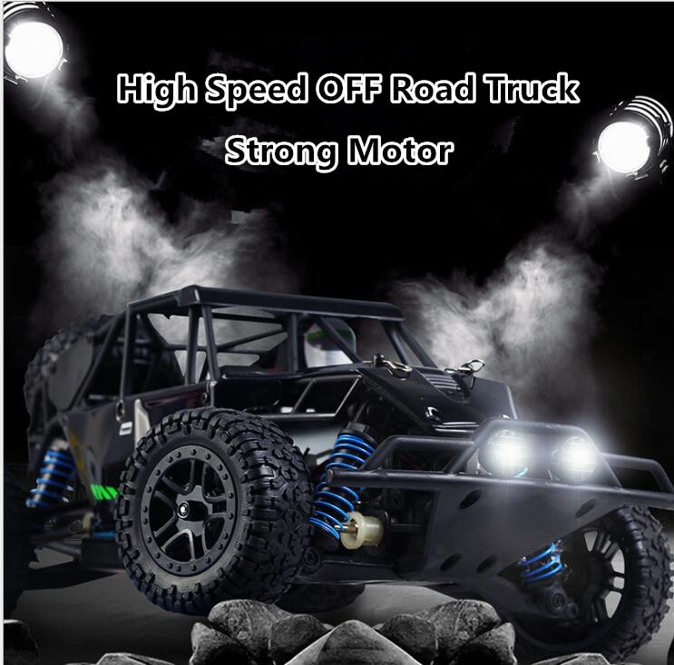 New professional RC truck toy 9303 2.4G 1:18 full scale 40-50KM/H 4WD desert racing high speed remote control RC truck vs A959-B enlarge