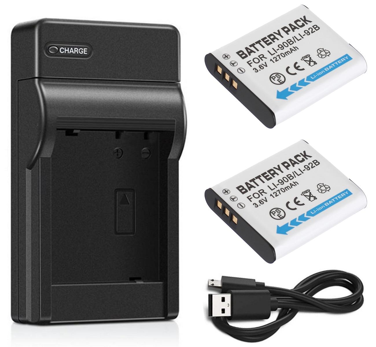 Batería (paquete de 2) + cargador para Ricoh DB-110, DB110 y Ricoh GR III, GRIII, GR3, GR-3, G900, G900SE, WG-6, WG6 cámara Digital