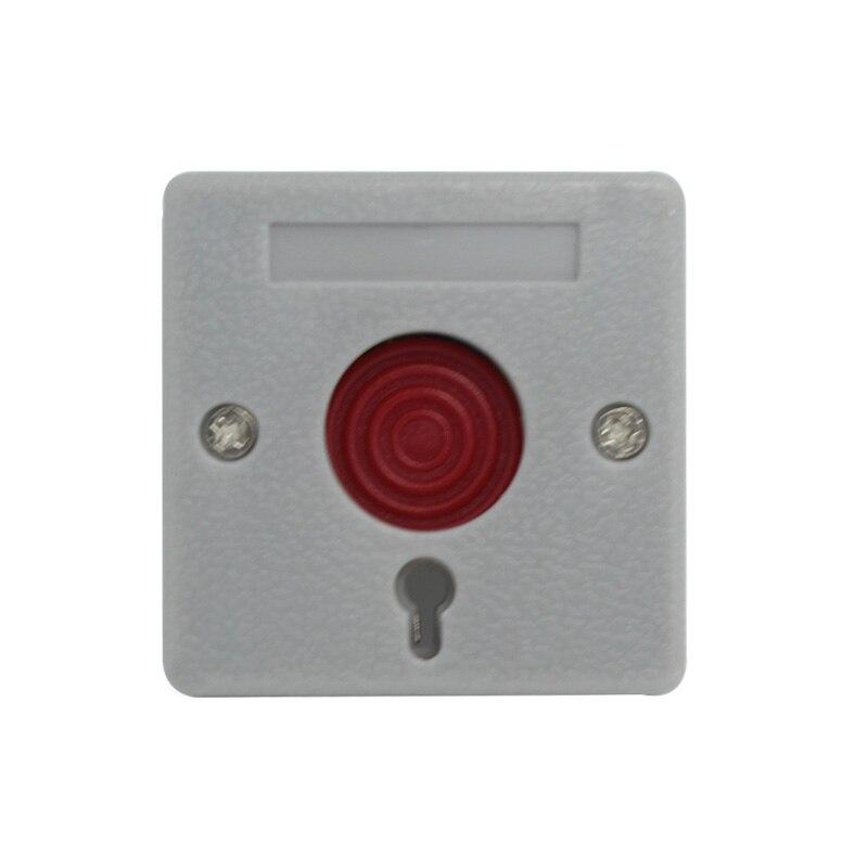(10 pieces) NC אין אות אפשרויות אבטחה מעורר אביזרי כפתור פאניקה כפתור אש מעורר חירום מתג משלוח חינם