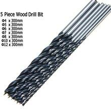 """7 pièces 12 """"300mm Extra Long torsion Brad Point bois foret ensemble 4 5 6 7 8 10 12mm travail du bois outil de forage"""