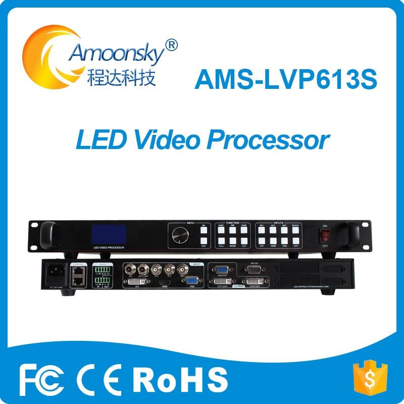 أدى عرض المتسلق الجلاد ams-lvp613s متعددة وظيفة الفيديو الجدار المعالج دعم linsn ts802d مزامنة بطاقة ل led لوحة