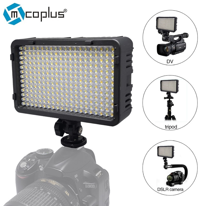 Mcoplus 198 LED Video Photographic Lighting Lamp for DV Camcorder & Canon Nikon Pentax Sony Panasonic Olympus Digital SLR Camera