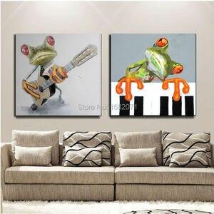 Высококачественная современная абстрактная забавная лягушка картина маслом на холсте различные лягушки фотообои для гостиной