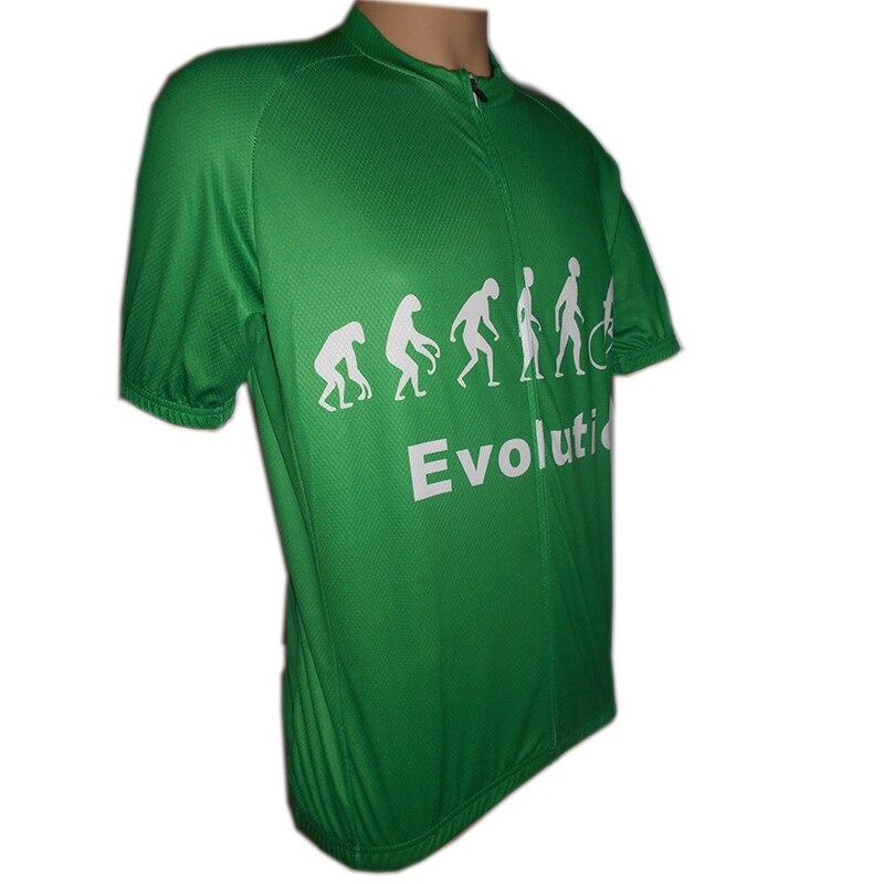 Camiseta de competición de diseño bonito de Green evolution, maillot como sport poliéster, ropa de lycra, con ventilación y secado rápido, bolsillos en la espalda