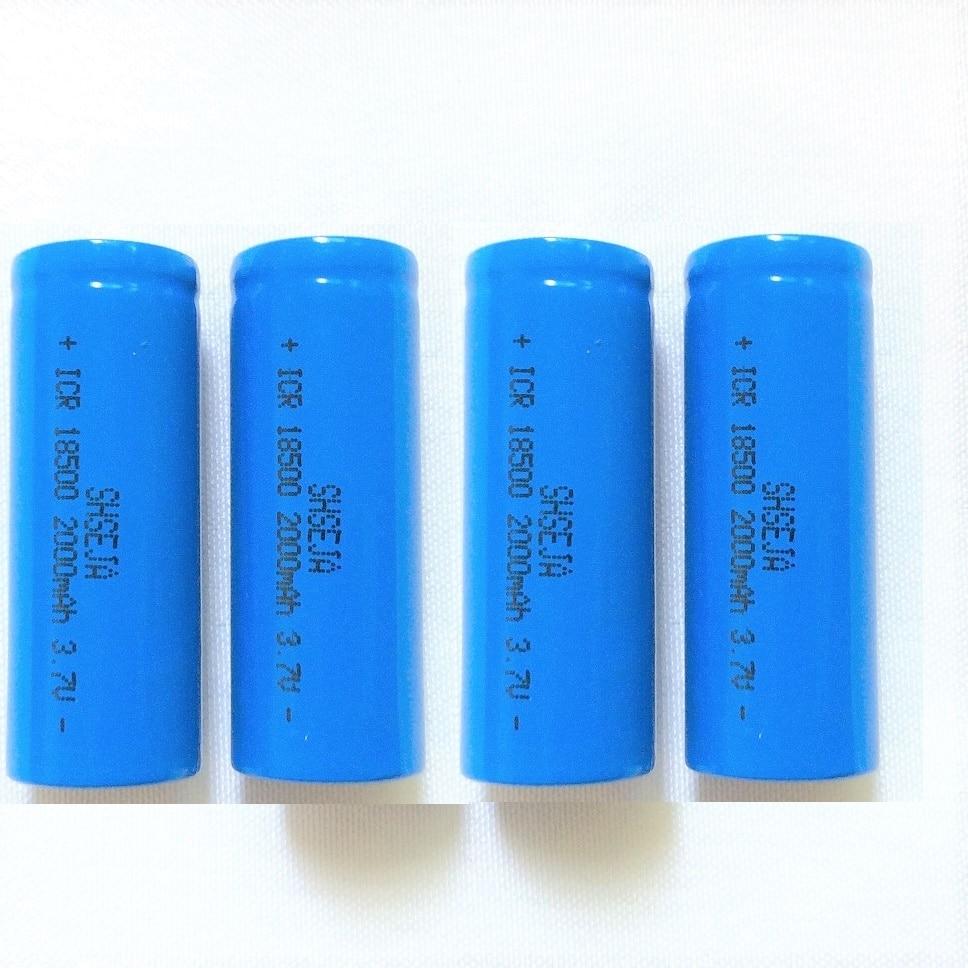 4 PZ ICR 18500 3.7 V 2000 mAh li-ion Ricaricabile