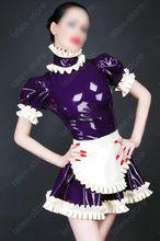 Latex Rubber Gummi Maid Servants Uniform Dress apron customized