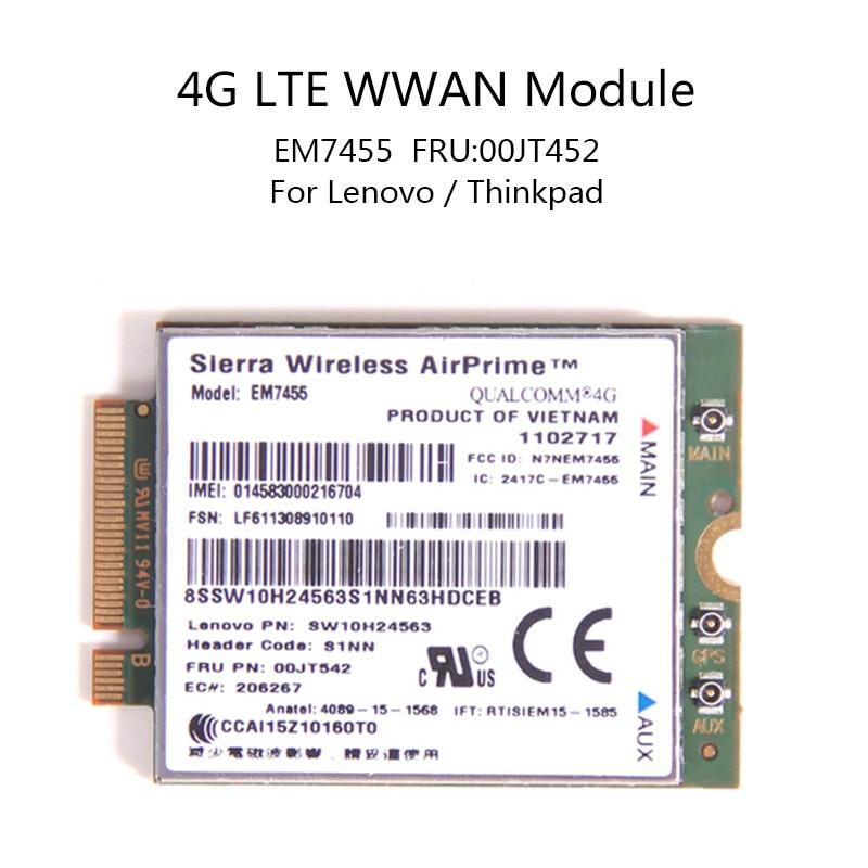 Карбоновый sierra для Lenovo X260 T460 P50 P70 L560 X1, беспроводной airprime EM7455, QUALCOMM GOBI6000, 4G LTE модуль, wwan, IBM FRU:00JT542