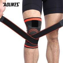 AOLIKES 1PCS 3D Onder Druk Fitness Running Knie Ondersteuning Braces Elastische Sport Compressie Pad Sleeve Voor Basketbal Fietsen