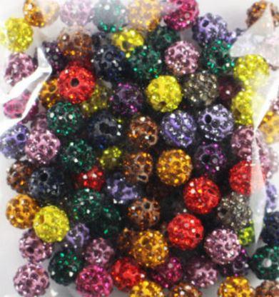 6mm 50 sztuk/partia mieszane biały w425 multicolor Rhinestone okrągły luźna kula dyskotekowa pave kryształ bransoletka z koralików naszyjnik diy