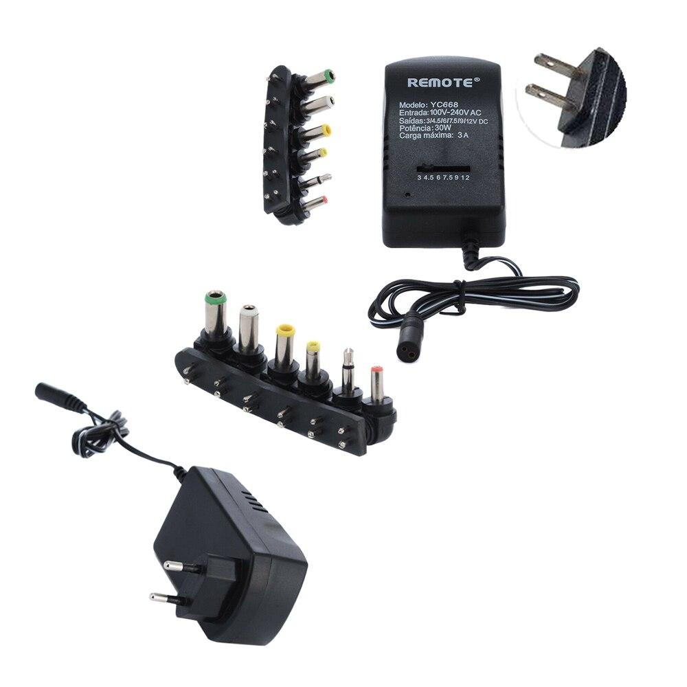 Cargador USB 30W adaptador de fuente de alimentación ajustable multifunción EU US enchufe AC DC cargador 3 V/4,5 V/5 V/6 V/7,5 V/9 V/12 V 3A