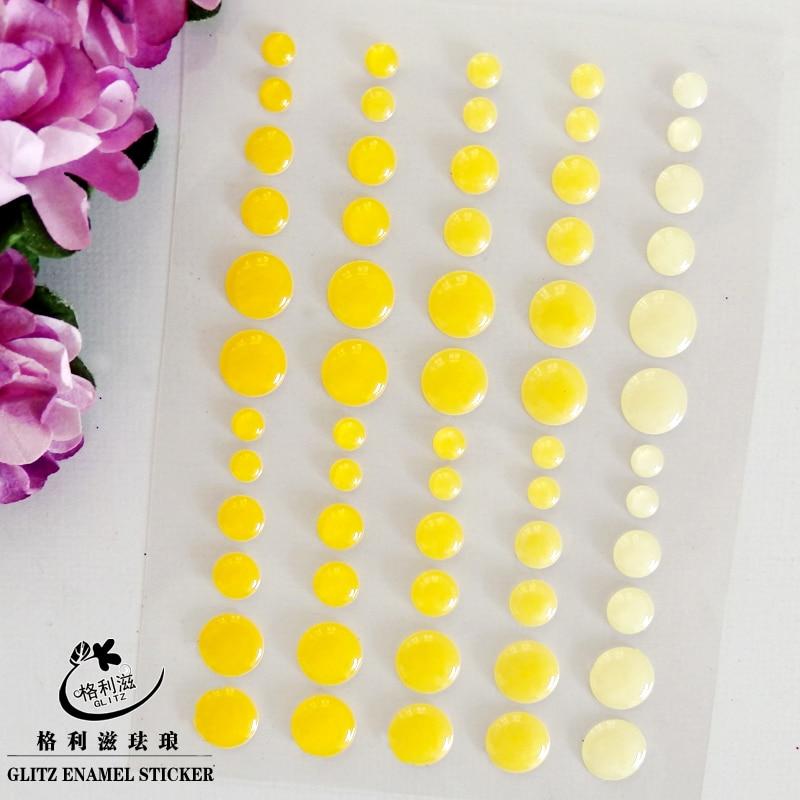 Sugar Sprinkles Self-adhesive Enamel Dots Resin Sticker for Scrapbooking/ DIY Crafts/ Card Making Decoration EN-06