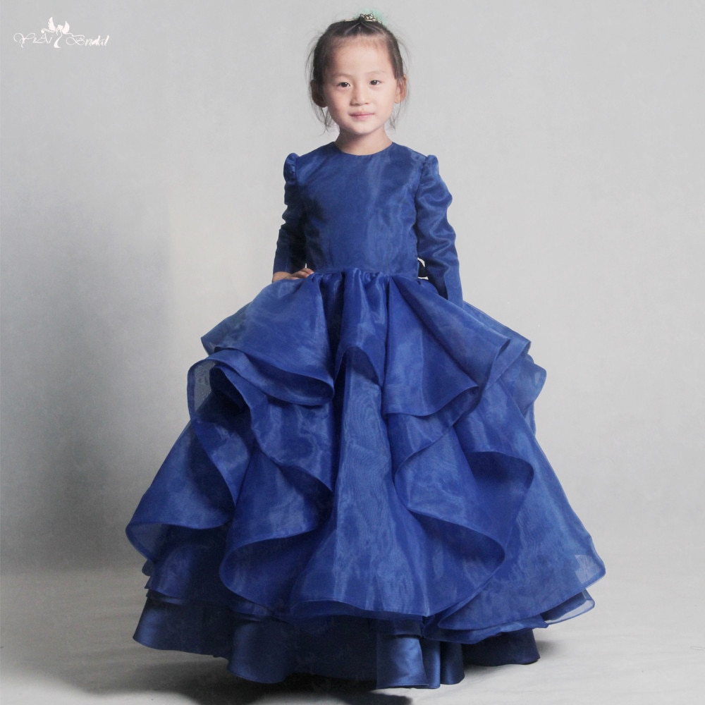 LZC021 elegante oscuro flor Bule chica vestido de princesa vestido de moda de verano para fiesta de boda