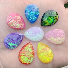 72 pcs 18*25mm Shine Opal Crystal Bling Resin Water drop Rhinestones DIY Flat Terug knoppen Crystal Strass -E75*6