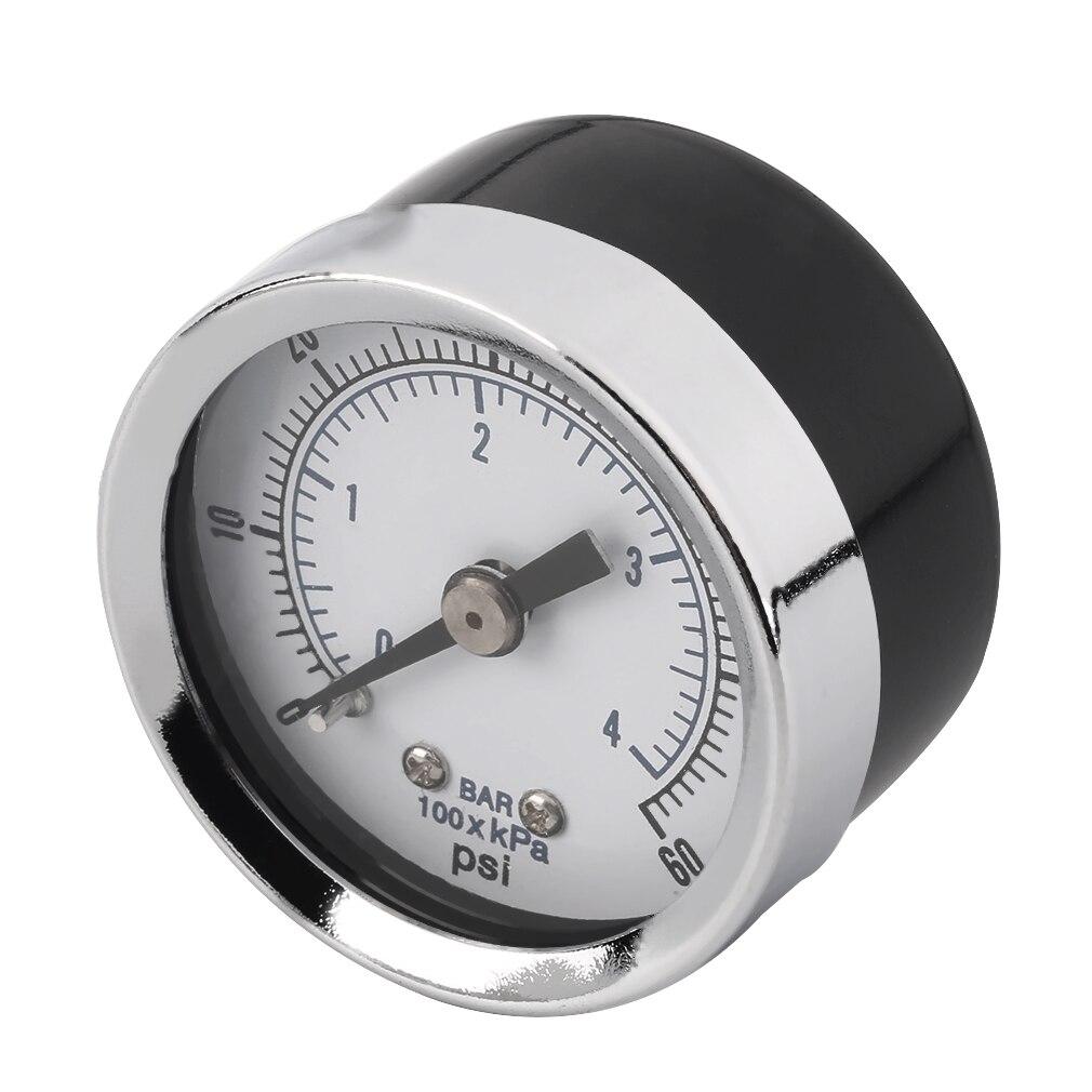 Compresor de aire hidráulico NPT de 1/8 pulgadas, manómetro de 0 a 60 PSI, montaje trasero, superventas