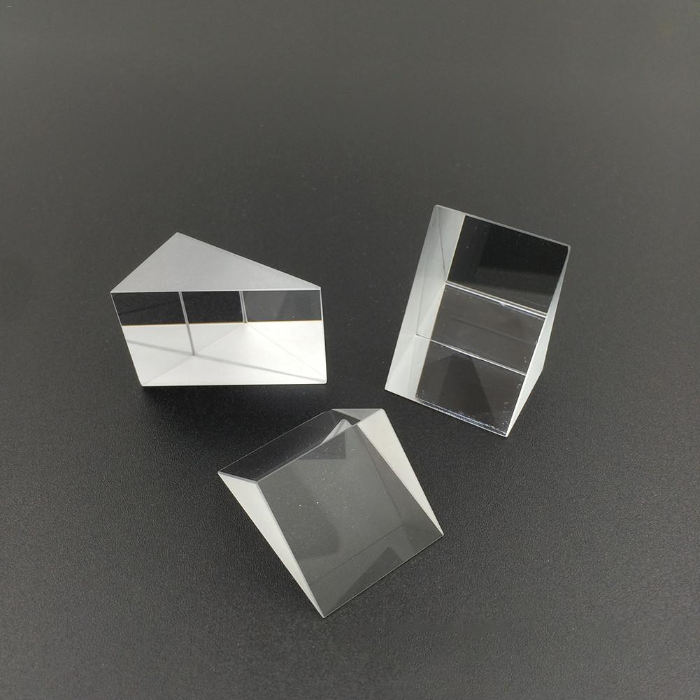 Prismas triangulares de cristal óptico de 10mm x 10mm x 10m, prisceles de ángulo recto, prismáticos de lente óptica K9, instrumento de prueba de Material de vidrio