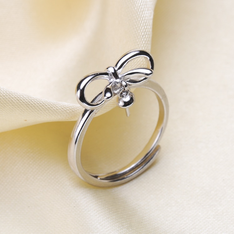 Кольцо с жемчугом женское, креативное Ювелирное Украшение с покрытием из серебра, аксессуар «сделай сам»