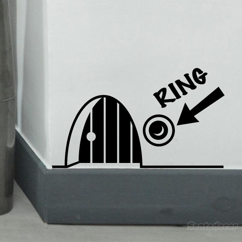 Pegatinas Cute Funny 3D Mouse orificios para anillos decoración del hogar vinilo calcomanía mural niños habitación arte papel tapiz decoración de la casa Fresco