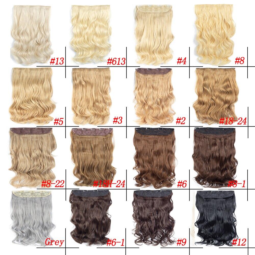 grampo de seda das extensoes do cabelo sintetico das costas no cabelo 190g ondulado