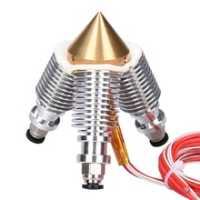 BIQU Messing Diamant Extruder Reprap Hotend 3D V6 heatsink 3 IN 1 OUT Multi Nozzle Extruder 3D printer kit voor 1.75/0.4mm